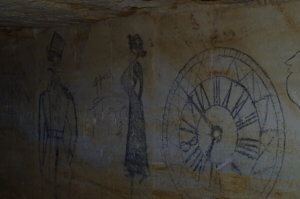 Рисунки 1920-х годов в катакомбах Холодной балки