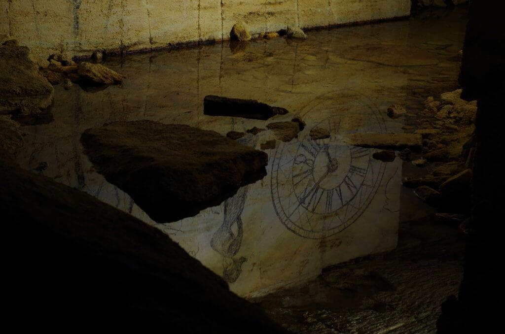 Рисунки в Одесских катакомбах
