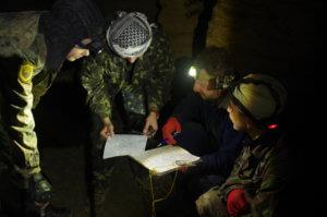 Ориентирования по карте в Одесских катакомбах